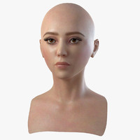3d model of head asian woman