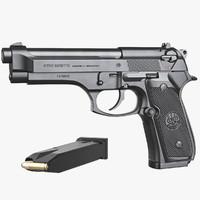gun beretta m92 fs 3d max