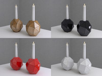 3d candle candlestick stick model