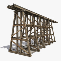 modeled railway bridge fbx