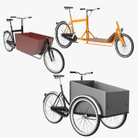 freight bicycle cargo 3d 3ds