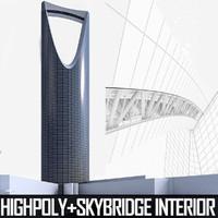 3dsmax kingdom centre tower riyadh
