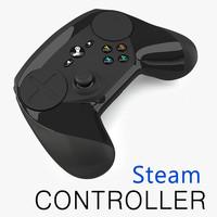 steam controller 3d model