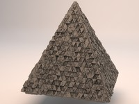 3d sci-fi shapes - pyramid