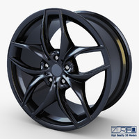 3d model style 215 wheel black