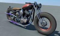 c4d custom bobber panhead motorcycles