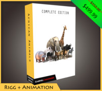 complete african animals 3d x