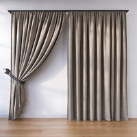 3d model of curtains fabric