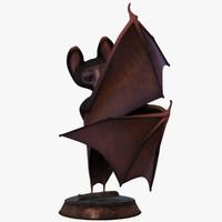 cartoon bat rigged obj