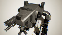 3d model robot mech machine