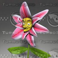 maya cartoon stargazer flower