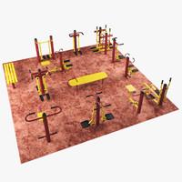 Outdoor fitness gym equipment  set 1