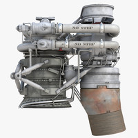 rocket engine 3d model