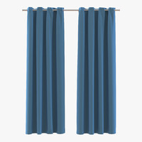 curtain 3 blue 3d model