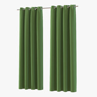 3d curtain 3 green