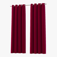 curtain 3 red 3d 3ds