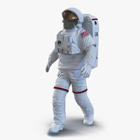 Extravehicular Mobility Unit without Visor Rigged