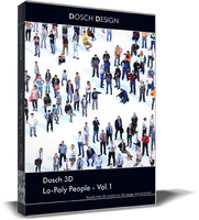dosch 3d: lo-poly people 3ds