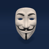 anonymous mask 3d obj