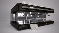 barista coffee machine 3d max