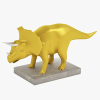 Triceratops Dinosaur Statuette