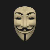 anonymous mask obj