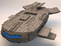 3d model of space mothership