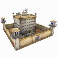 cartoon prison toon 3d model