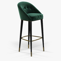 brabbu malay bar chair 3d model