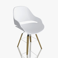 zanotta chair eva 2266 3d model