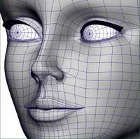 3d model lady face