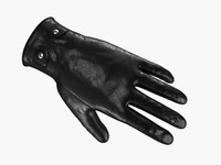 3d leather gloves model