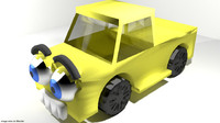 cartoon toon vehicle 3d model