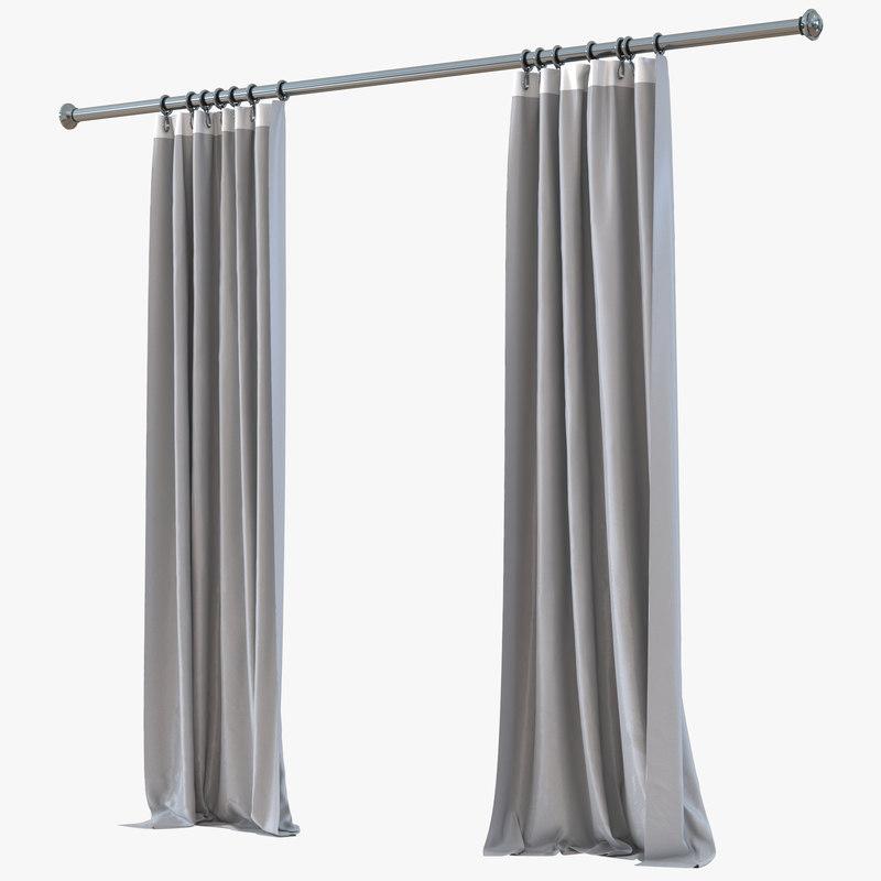 Curtain Gray 3d model 00.jpg