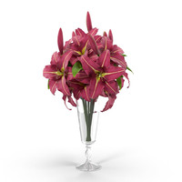 3ds max lily bouquet