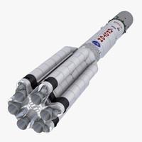 3dsmax proton-m launch vehicle
