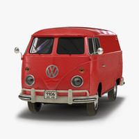 volkswagen type 2 panel 3d model