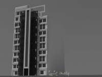3d model of architecture building