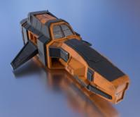spaceship pbr details 3d model