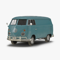 3d model volkswagen type 2 panel