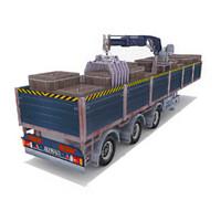 Tow trailer crane