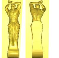 hercules statue 3d 3ds