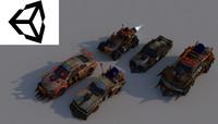 3d model military car