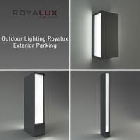 3d model outdoor lighting royalux exterior