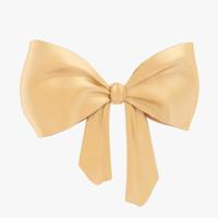 3d beige bow model