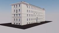 3d x european building exterior