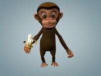 3d chimpanzee monkey model