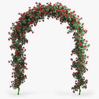 rose arch 3d model