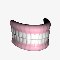 3d teeth lightwave model