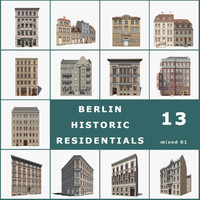 13 historic berlin houses 3d 3ds